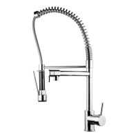 Double Spout Mixer Industrial Kitchen Faucet