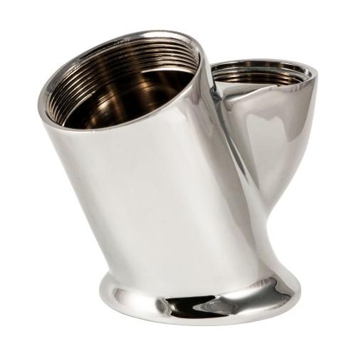 35 mm Ceramic Disc Cartridge Swan Neck Mixer Faucet Body (Chrome Plated)