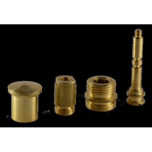 40 mm Ceramic Disc Cartridge Faucet Brass Water Rotator Set